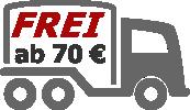 Ab 70 Euro zahlen Sie keine Versandkosten!